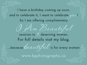 I am beautifeul photo session giveaway