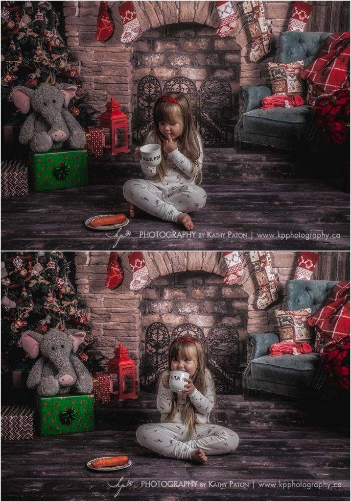 Christmas portraits with santa